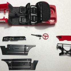 I finished the detail work on the Alfa's interior and was ready to start assembly.