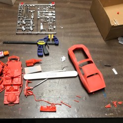 On the first day of my Vette build, I separated all of the parts and prepped them for paint.