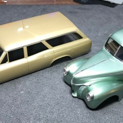 I bucked down and started foiling both the Chevelle wagon and the Ford. It's not my favorite task but it looks great!