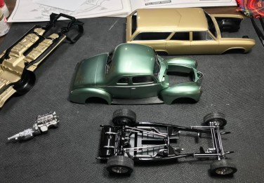 """Once I committed to finishing the '32 Ford, I blew through most of the assembly in one sitting. I still had to finish """"chrome"""" painting a few parts before I was able to wrap up the build."""