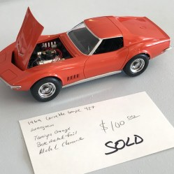 The '69 Corvette sold for $80 at a local model show.