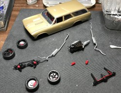 The Chevelle is quickly coming together. There's still quite a bit if detail left.
