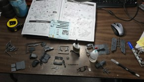 I pulled out my Dodge Magnum kit and started assembling various components.