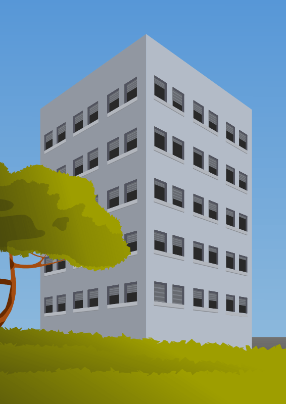 Immeuble en perspective avec inkscape
