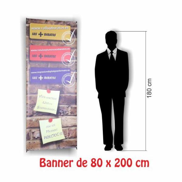 banner 80x200 barato tamaño