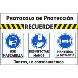 cartel coronavirus recordar