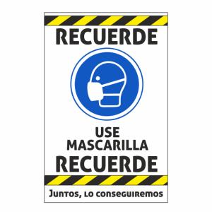 cartel mascarilla coronavirus