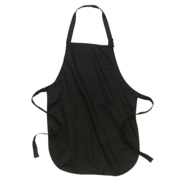 Black apron with pockets