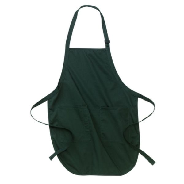 Hunter green apron with pockets