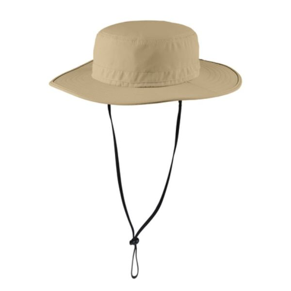Cream color wide brim hat with UV and insect protection
