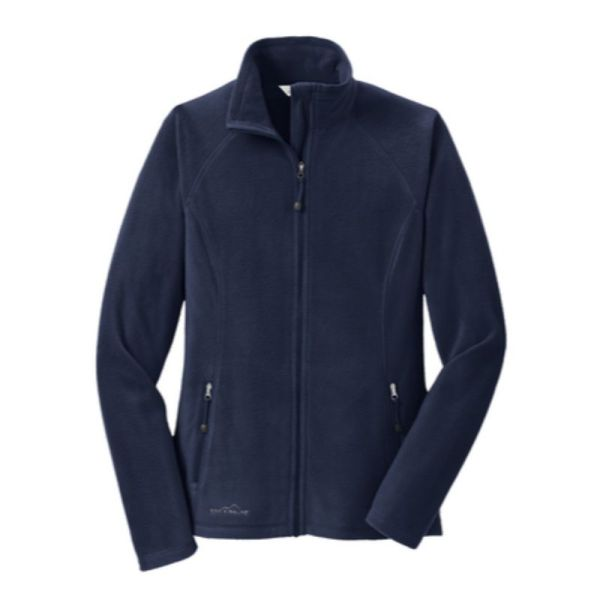 Ladies Full-Zip Microfleece Jacket, Navy