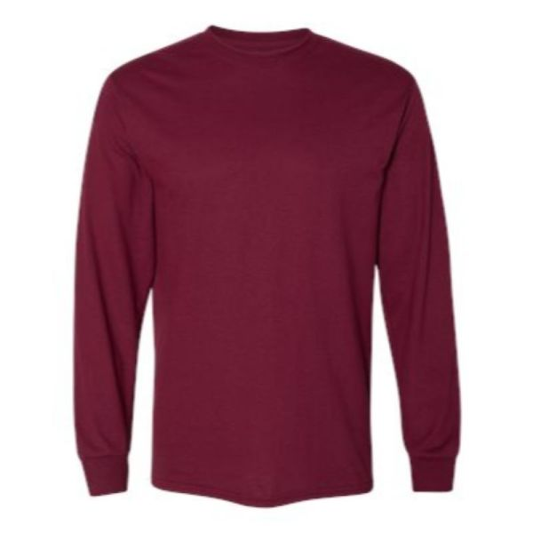 Long Sleeve Tee, maroon