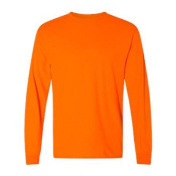 Long Sleeve Tee, safety orange