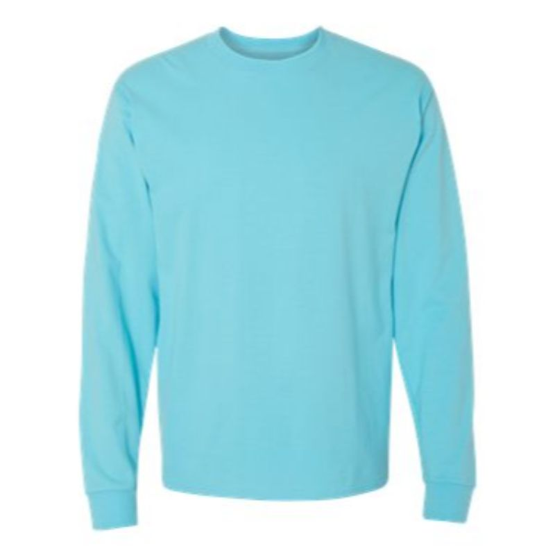Long Sleeve Tee, Blue Horizon