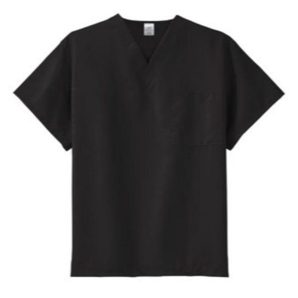 scrub top, Black