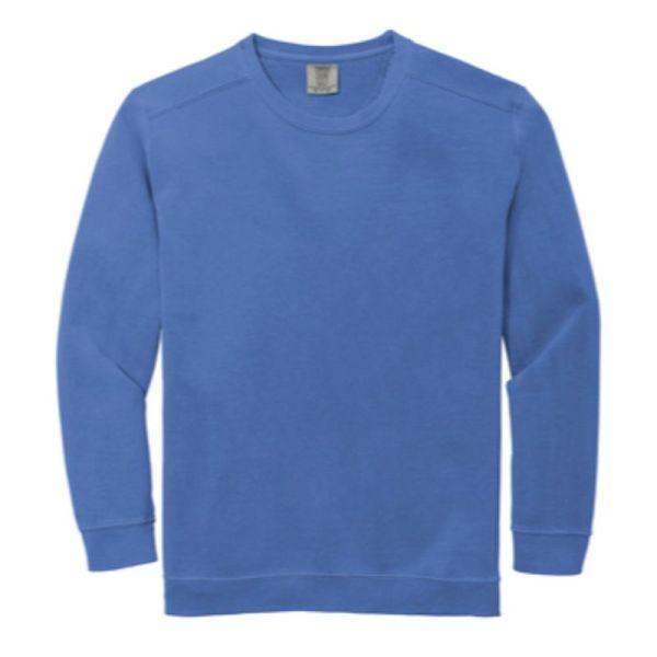 Comfort Colors Ring Spun Crewneck Sweatshirt, Flo Blue