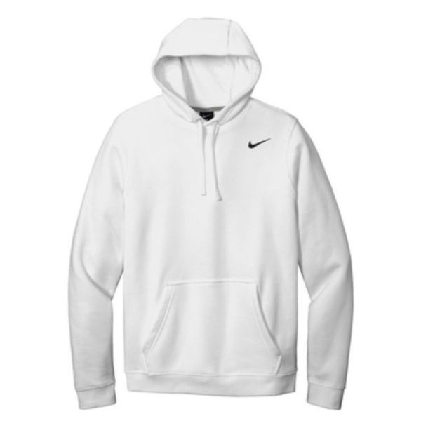 Nike Club Fleece Pullover Hoodie, White