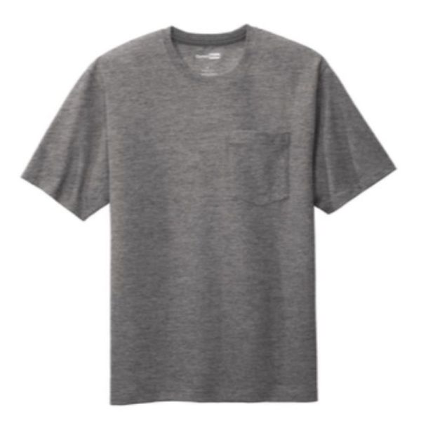 Workwear Pocket Tee, Heather Charcoal