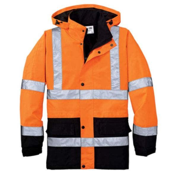 Waterproof Safety Parka, Safety Orange