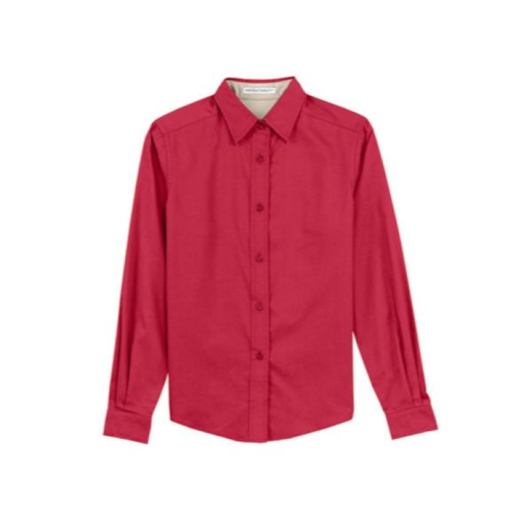 Ladies long sleeve shirt, Red