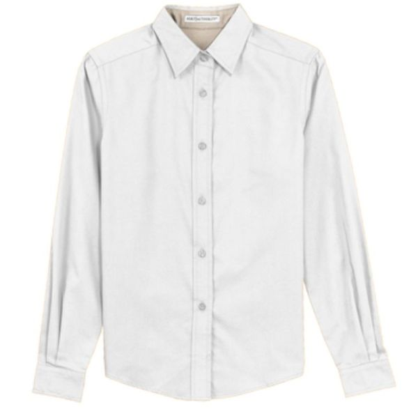 Ladies long sleeve shirt, white