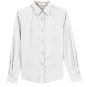 Ladies long sleeve shirt, white