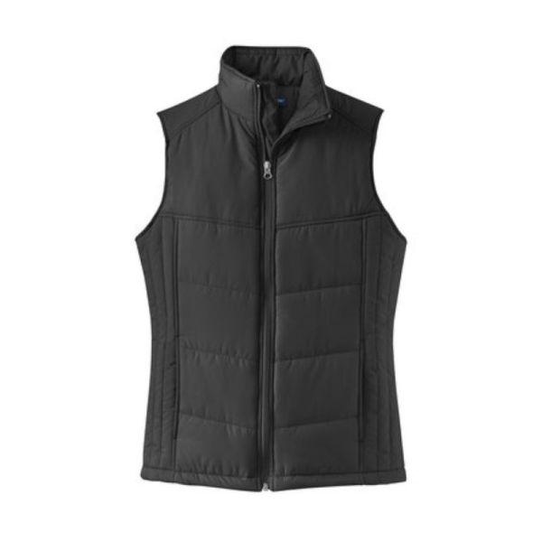 ladies vest, black