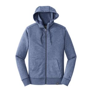 Full zip sweatshirt, blue heather
