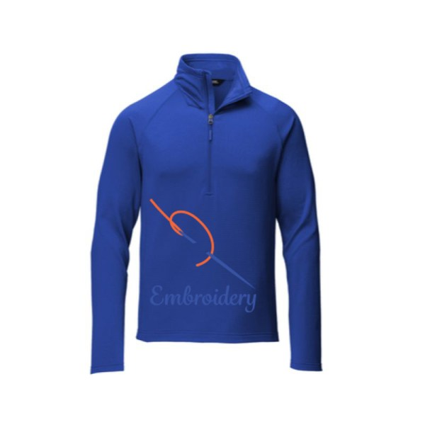 NF0A47FBTNF Quarter Zip Blue a