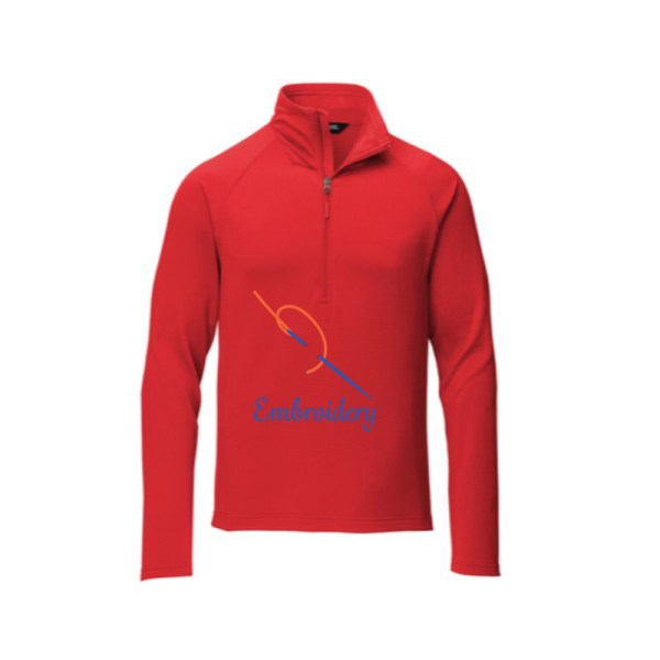 Quarter zip fleece, red