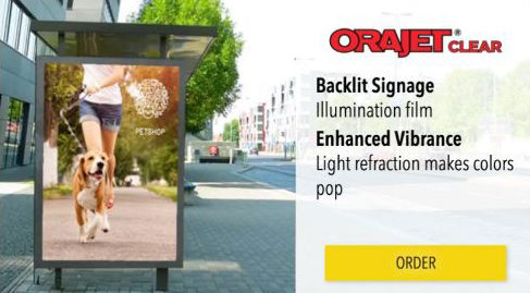 Orajet Backlit Adhesive Film