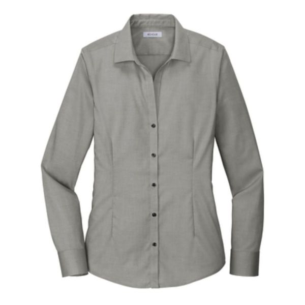 Ladies Dress Shirt Charcoal