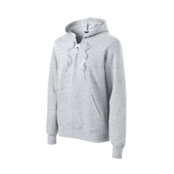 Laced up hooded sweatshirt