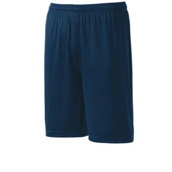 Mens athletic shorts, navy blue