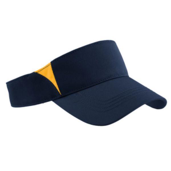 Navy-Gold Sport Visor