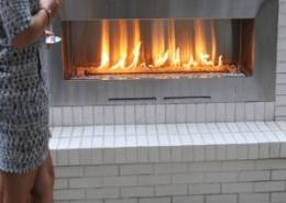 Fire Ribbon Outdoor Fireplace by Sparkfires