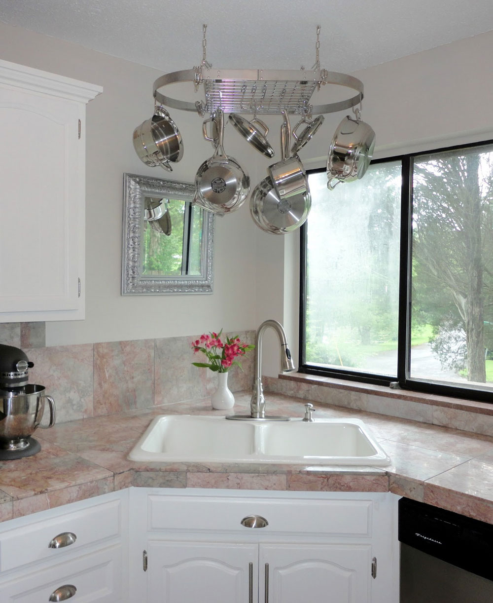Corner Kitchen Sink Decorating Ideas Novocom Top