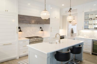 kitchen- white- pendant- lighting- wood flooring- quartz- granite- marble- interior design- woodbury- minnesota