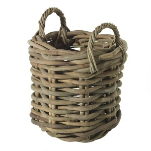 """Wooden cabana woven 13.5"""" x 17.5"""" basket. Indoor use only."""