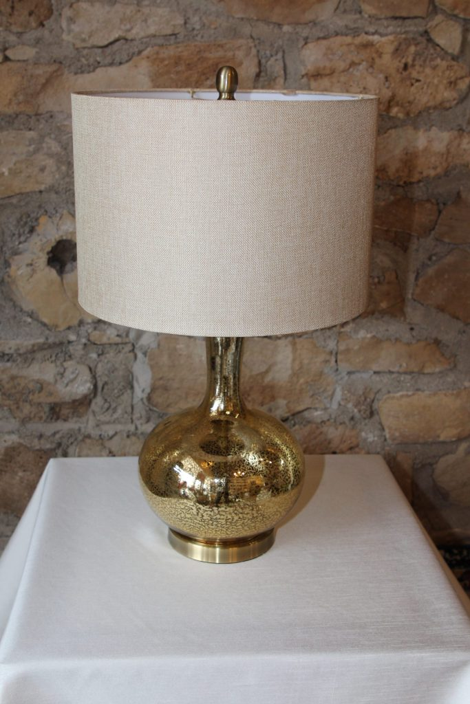 Carlette gold lamp from Impressive Windows and Interiors Hastings MN