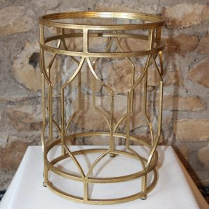 Round gold metal side table Impressive Windows and Interiors Hastings Minnesota