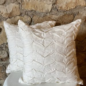 pintucked ivory pillow