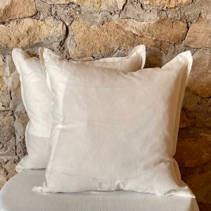 "Ivory decorative pillow with 1"" decorative flange around the perimeter- Impressive Windows & Interiors in Hastings MN"