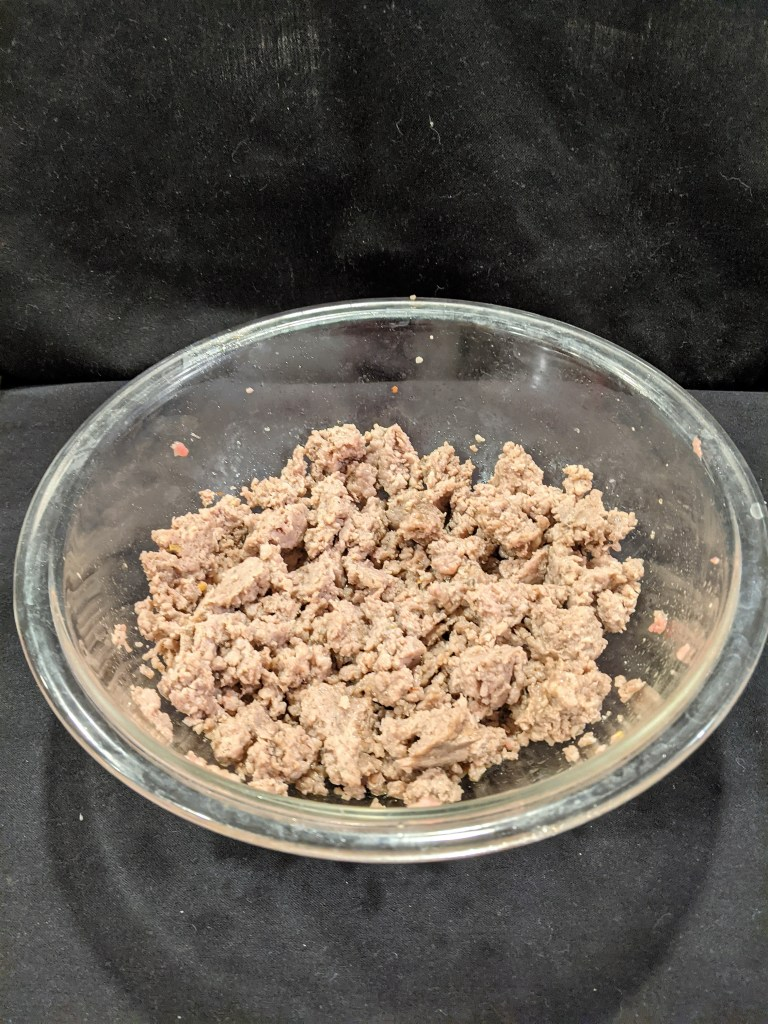 cooked ground sausage