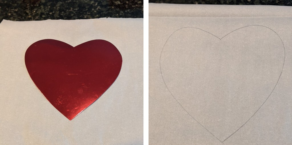 Heart and heart outline