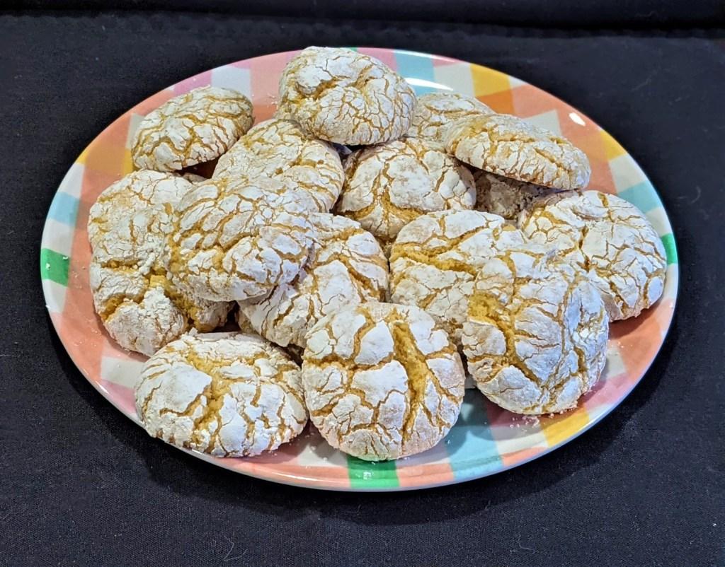 Plate of lemon cookies