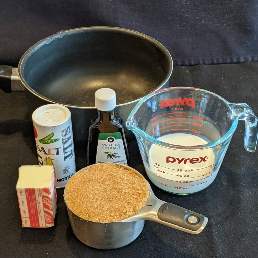 Ingredients and sauce pan