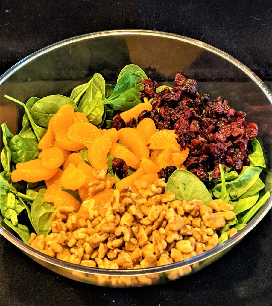 Salad bowl with ingredients