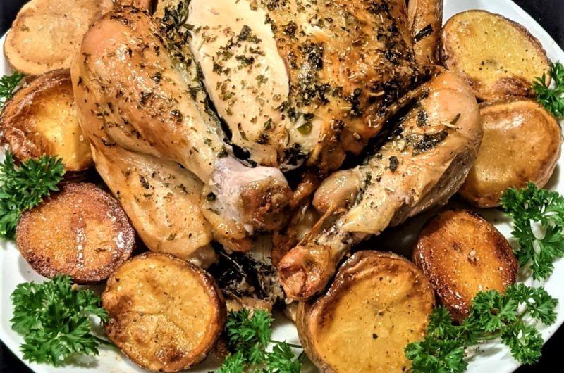 Easy Herby Roast Chicken