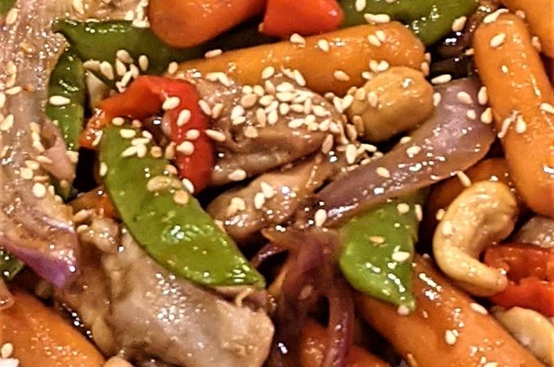 One-Pan Cashew Chicken & Veggies